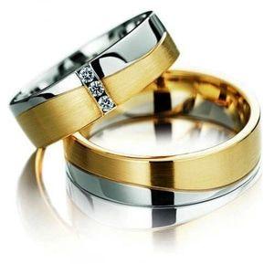 cincin couple perak sepasang lapis emas