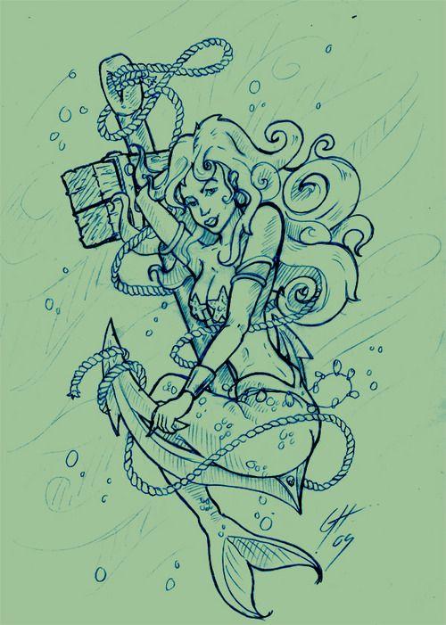 mermaid tattoo for feliesha 39 s ocean sleeve 2 m e r m a i d s pinterest mermaid tattoos. Black Bedroom Furniture Sets. Home Design Ideas