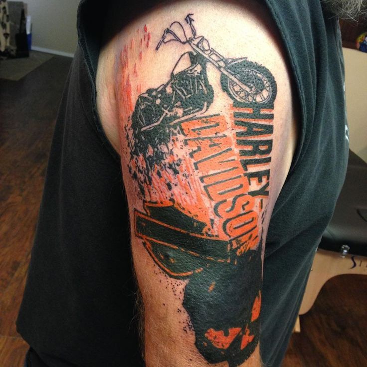 25 best ideas about harley davidson tattoos on pinterest for Free harley davidson tattoo designs