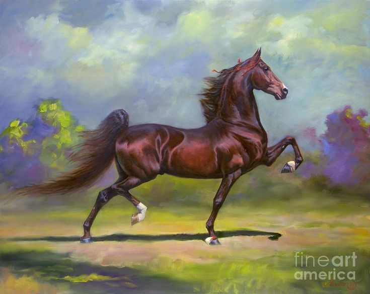 Imperator Painting  - multiple winner of American Saddlebred World Championships in the '80s.