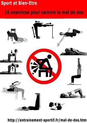 10 Exercices pour prévenir et soulager le mal de dos