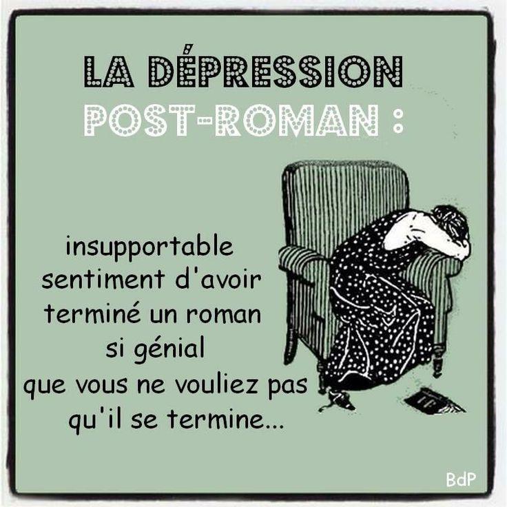 Avez-vous déjà vécu une dépression post-roman?