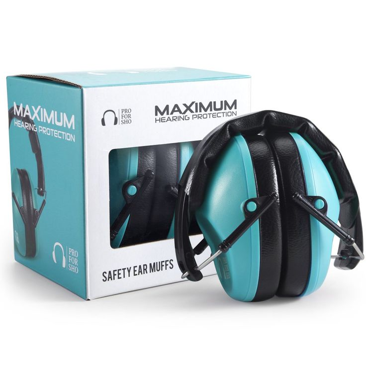 Pro For Sho 34dB Shooting Ear Protection - Special Designed Ear Muffs Lighter Weight - Maximum Hearing Protection , Teal