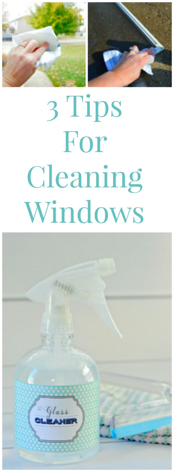 3 Tips for Cleaning Windows including Homemade Glass and Window Cleaner, How To Clean Windows and leave them streak free and How To Clean Window Screens