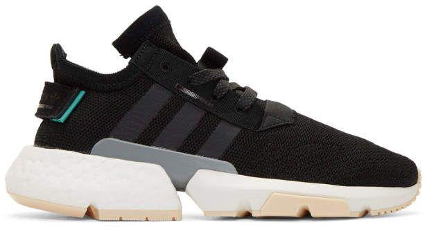 adidas Black POD S3.1 Sneakers #Sponsored , #ad, #Black