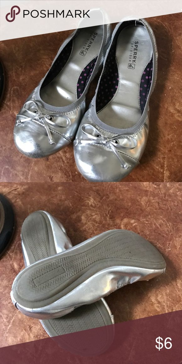 Girls silver ballet shoe Gently worn excellent condition Sperry Top-Sider Shoes