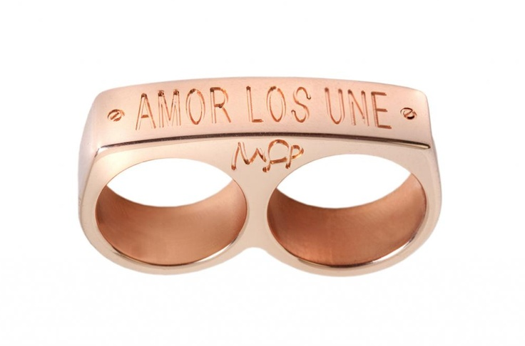 mens fashion style ring love makes us one