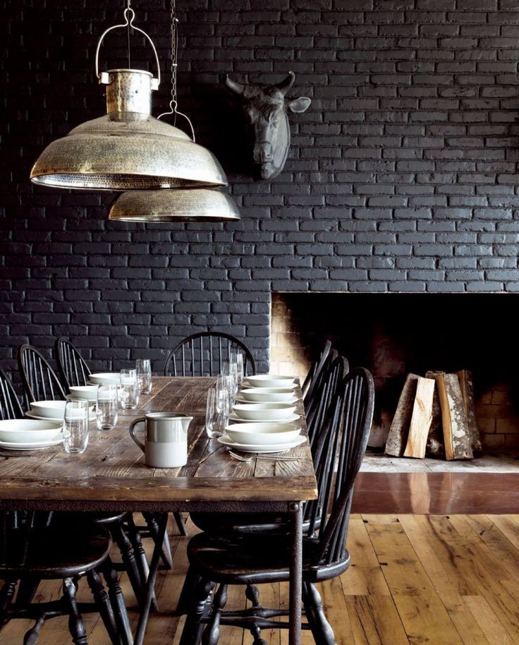 Best 25 black brick wall ideas on pinterest - Decoration industrielle vintage ...