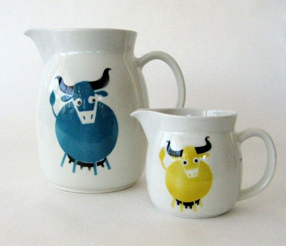 Large Kaj Frank Heluna Cow Pitcher for Arabia