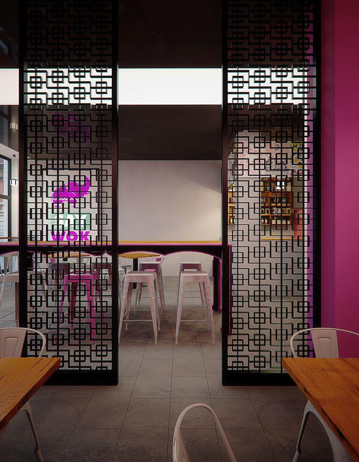Asian food restaurant design in Tarnowskie Gory POLAND - archi group.  Azjatycjka restauracja w Tarnowskich Górach.