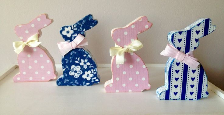 Decoupage Easter Bunnies