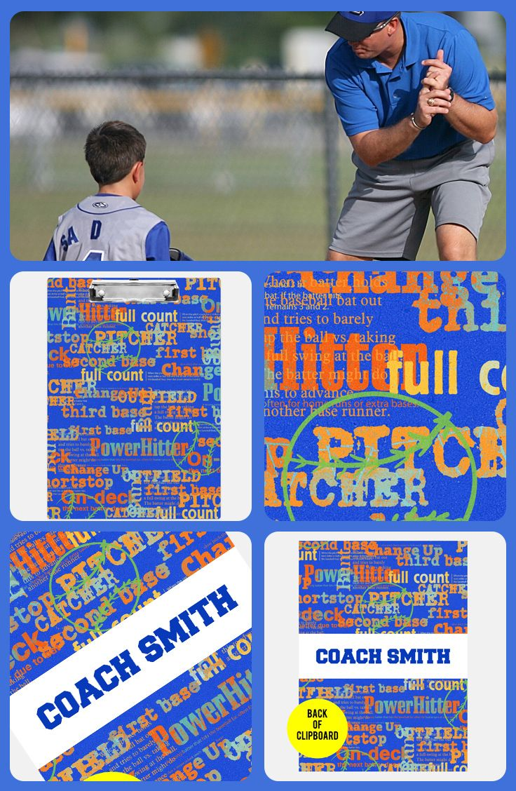 These Vibrant Personalized Clipboards Make Really Thoughtful Baseball Coach Gifts Baseball Coach Gifts Soccer Coach Gifts Coach Gifts