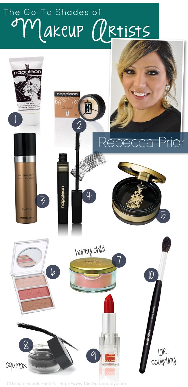 The Favorite Shades Of Makeup Artists: Rebecca Prior From Napoleon Perdis