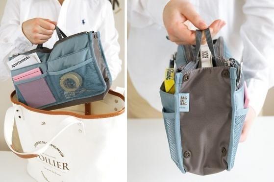 Har du ofte problemer med, at finde dine ting i bunden af din taske, så er den smarte Bag in Bag den perfekte løsning! Du kan nemt organisere alle dine ting i Bag in Bag, og så flyttes den blot med fra taske til taske, så du altid har styr på dine ting. Du får den for kun 88,- inkl. levering! Kan købes her: http://dealhunter.dk/produkt/spar-55-paa-den-smarte-bag-in-bag-som-holder-orden-i-din-taske.html
