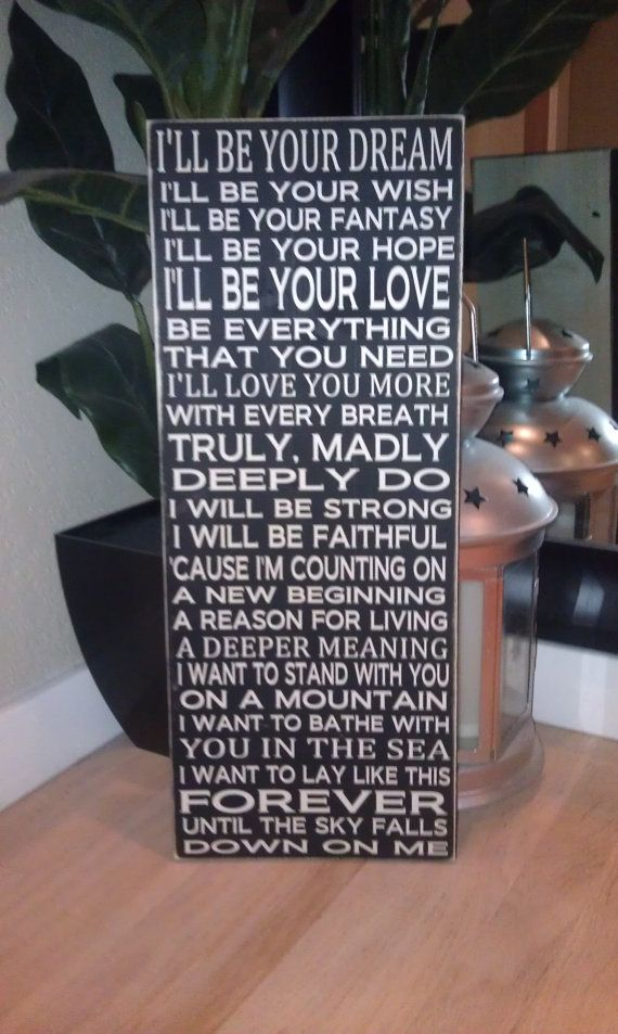 24x11 Savage Garden Truly Madly Deeply Love Song Wood Sign. Great Gift Idea. You can change the words and colors to customize.