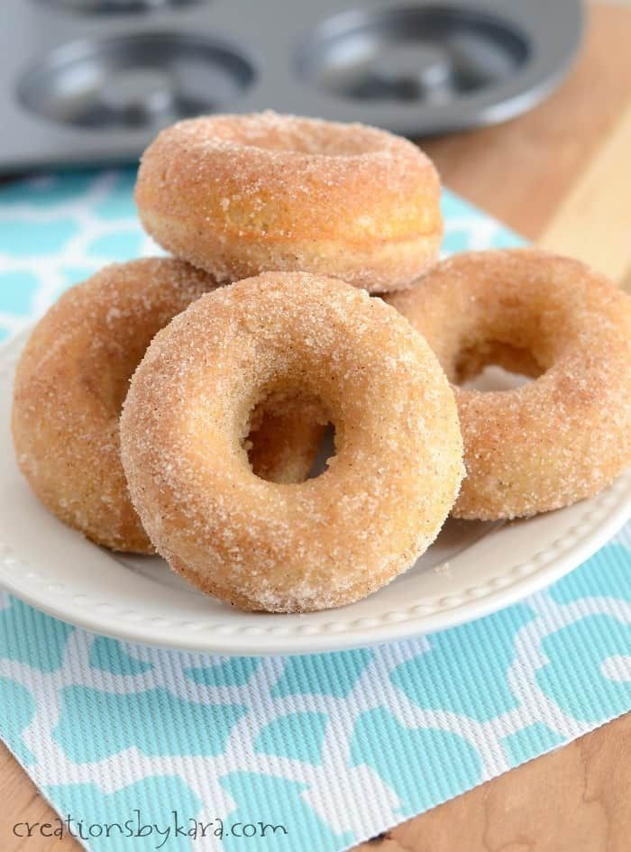 These Cinnamon Sugar Donuts are baked instead of fried, and they are still beyond delicious!