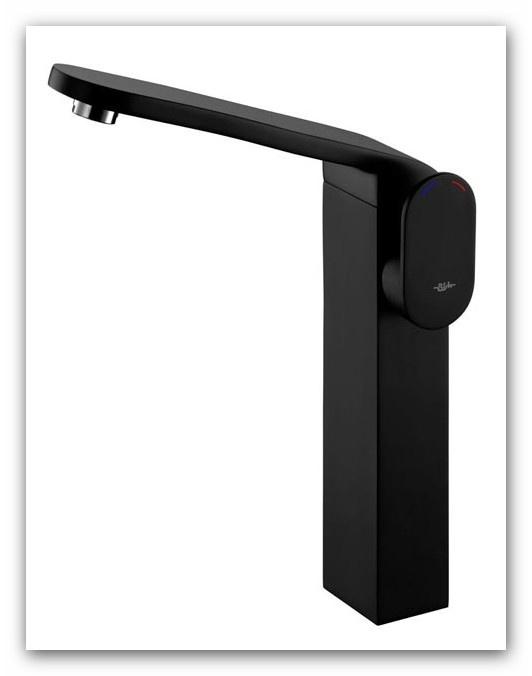 BISK FUTURA BLACK Bateria umywalkowa wysoka 02974 :: e-lazienkowy.pl