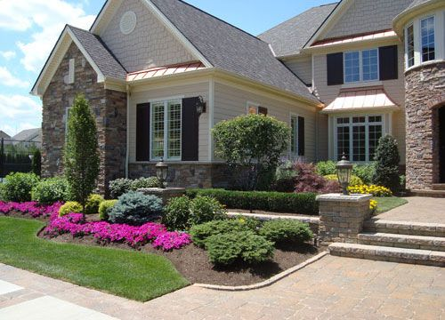 23 best circle driveways images on pinterest carport for Carport landscaping ideas