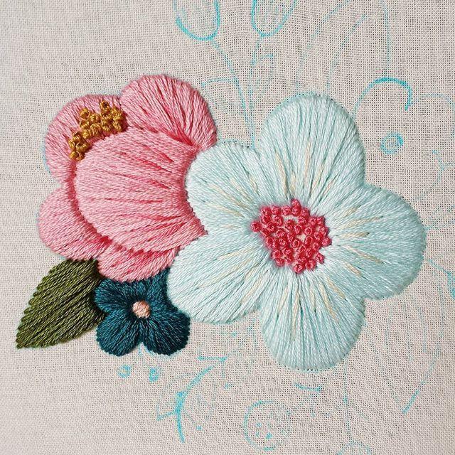 Sneak peek of the next new project Gotta love that satin stitch!