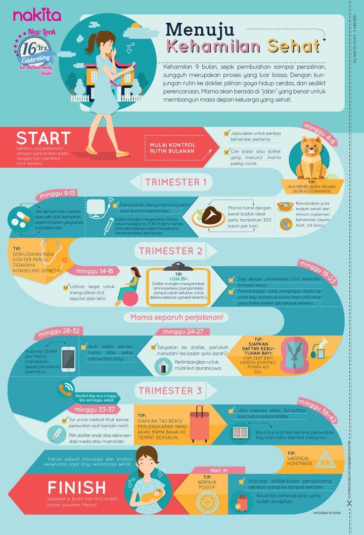 Infografis: Menuju Kehamilan Sehat.
