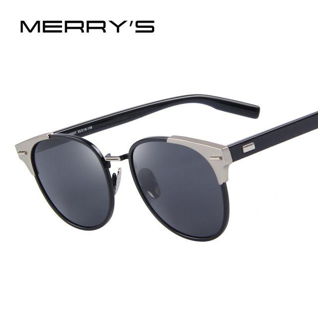 MERRY'S Mujeres Remache Retro gafas de Sol Polarizadas de Los Hombres Clásico Diseñador de la Marca gafas de Sol Unisex S'8045