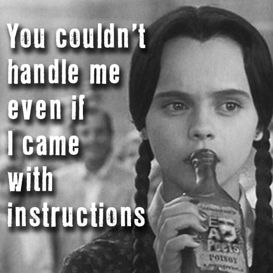 Wednesday Addams...                                                                                                                                                      More