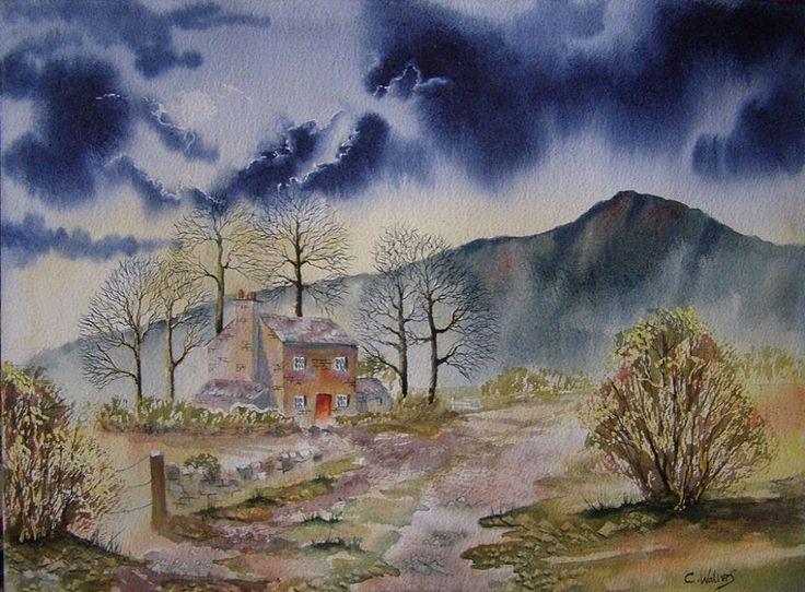Autumn Farm 15 x 11 Watercolour