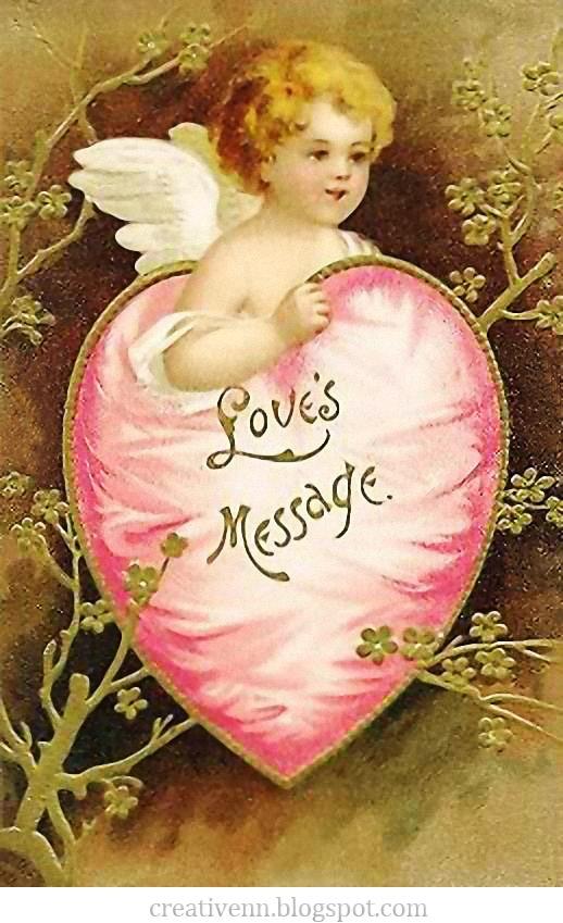 Открытки с ангелом и сердцем