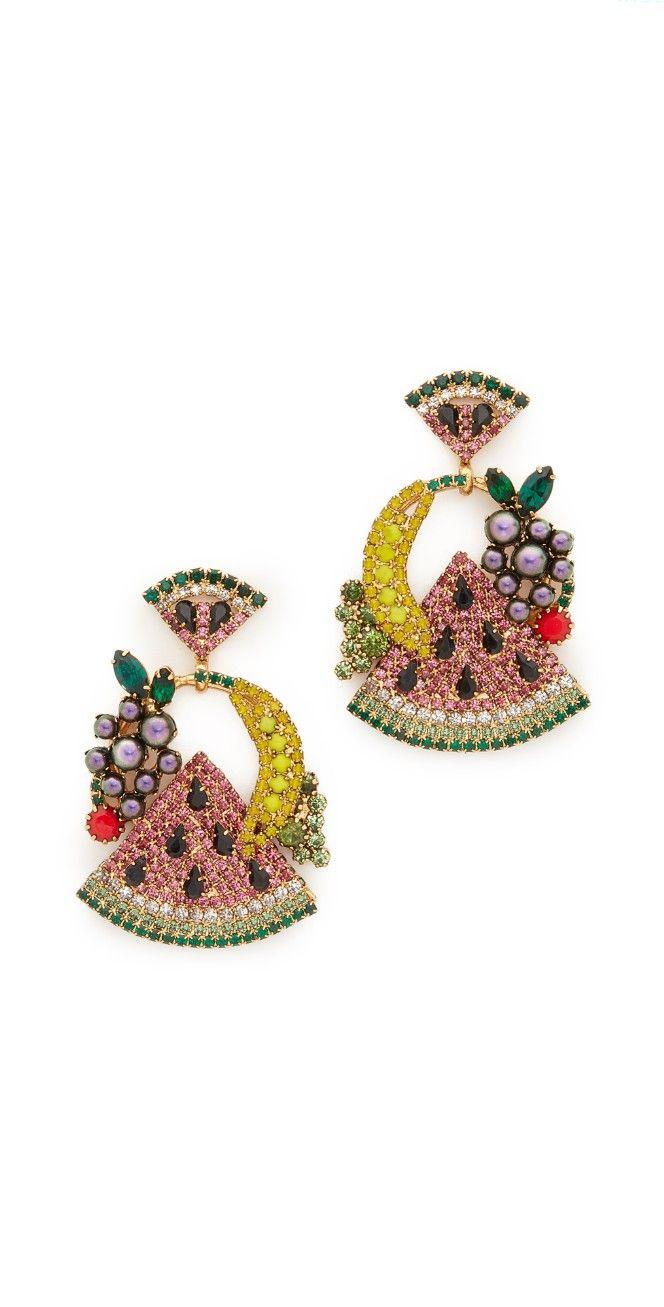 Elizabeth Cole Fruit Salad Earrings   SHOPBOP