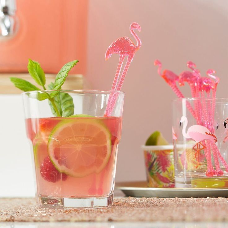*Ginger Ray 15 Pack Flamingo Tropical Cocktail Stirrers Hawaii Summer BBQ Retro* in Home, Furniture & DIY, Celebrations & Occasions, Party Supplies | eBay