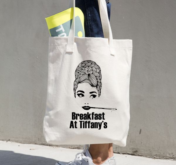 Fresh and unique hand drawn illustration -  by Montreal based designer Cynthia Irani Printed in the US on American Apparel Totes.  Our apparel is created with t
