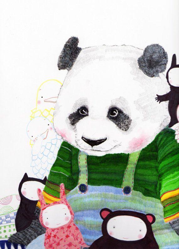Panda and friends