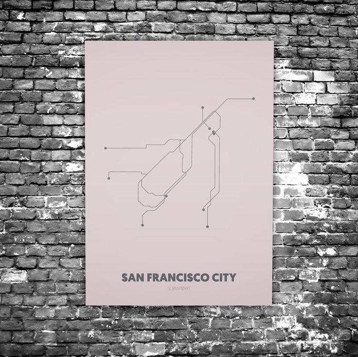 San Francisco C8 Acrylic Glass Art