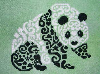 Tribal Panda - Cross Stitch Pattern