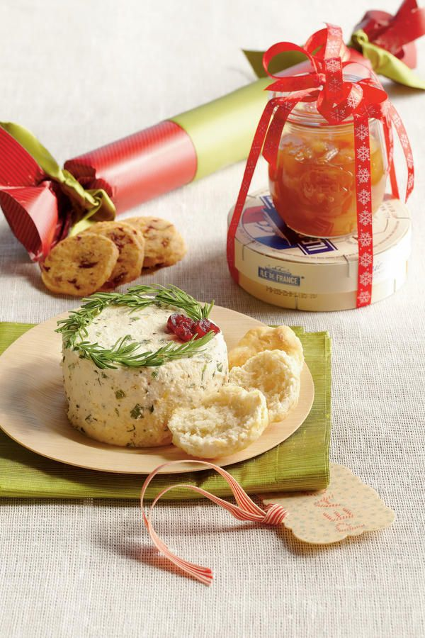Herbed Cheese Spread - Food Gifts for Christmas - Southernliving. Recipe:Herbed Cheese Spread  Recipe:Biscuit Crostini  Our Herbed Cheese Spread is a perfect gift for the holiday season. Include homemade Biscuit Crostini to make entertaining a breeze.