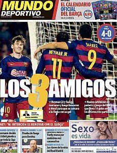 Descubre las mejores portadas de los periódicos deportivos de España y Europa del día de hoy Domingo, 29 de noviembre de 2015 en la web de MARCA.com