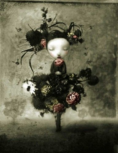 """Flora"" by Nicoletta Ceccoli (San Marino, 1973). Italian artist. Nicoletta raised and still lives in her native Republic of San Marino. She studied animation at the Institute of Art In Urbino, Italy."
