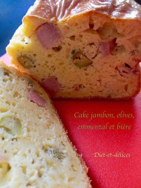 cake jambon olives emmental et bi re tarte quiche. Black Bedroom Furniture Sets. Home Design Ideas
