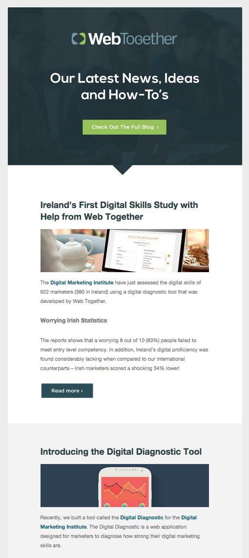 107 best email design inspiration images on pinterest for Newsletter design inspiration