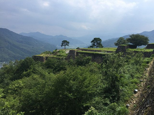 The Ruins of the Takeda Castle   Located on a mountain (352m height).