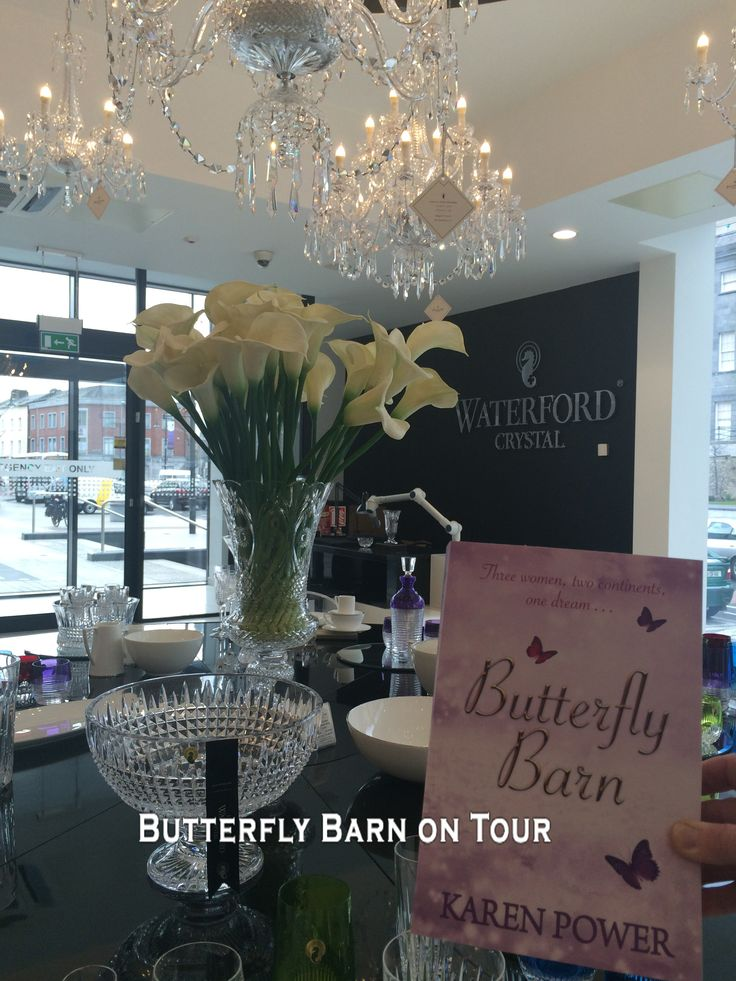 http://www.karenpowerauthor.com/ Butterfly Barn in Waterford Crystal again - Such lovely crafts.