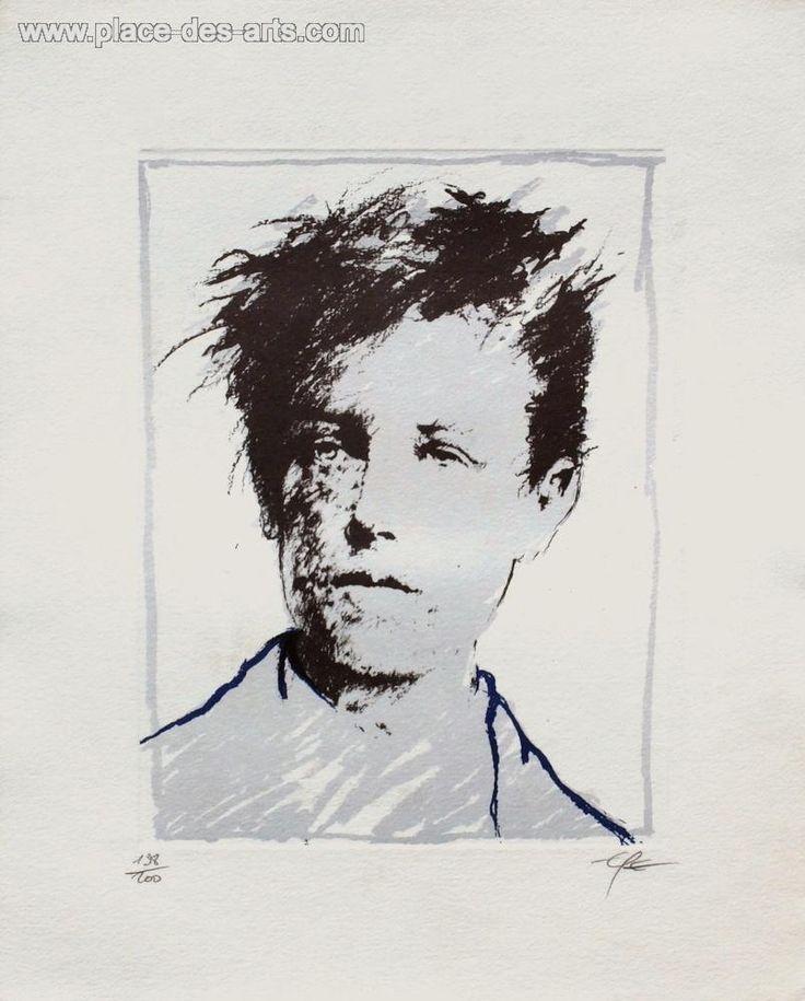 Rimbaud variations II, Lithographie, du peintre, ERNEST, PIGNON-ERNEST, Signée et numérotée au crayon