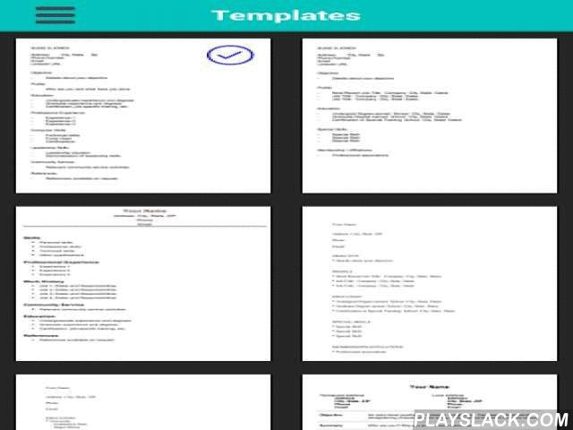 Professional Resume Generator  Android App - playslack.com , This is the only app you'll need to create and manage your resume in just a few minutes. Easy to use interface allows you to work on your resume no matter if you are on the train, bus or even lying at the beach! There are 10 templates you can convert your resume to in just a singlet tap. Even better, you can also export your resume to .PDF, DOC and also send it to your email!Features- Convert easily to PDF and DOC- 10 Different…