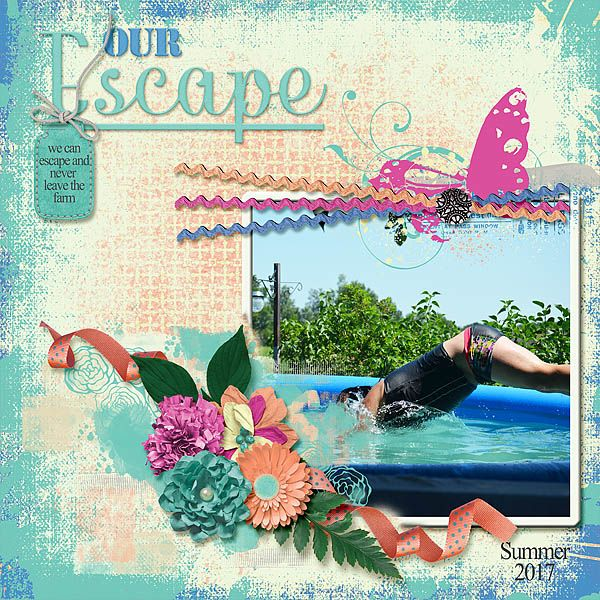Our Farm is our escape. Our little piece of heaven right here on earth. March FWP collab - Escape is a beautiful collection in blues, peach, and pops of bright pink.Lots of gorgeous flowers and papers to choose from.