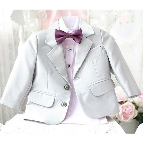 Buy Baby Little Toddler Junior Boy Silver Gray Grey Tuxedo Dress Suit SKU-132083