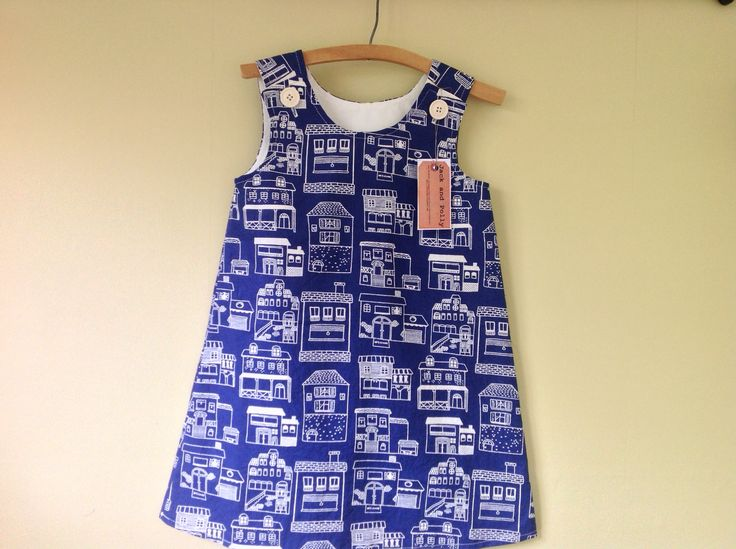 Girls+summer+dress/pinafore+size+4+house+cotton+party+dress