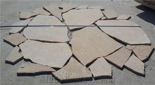 China Yellow Limestone Flagstone
