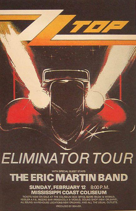ZZ Top Concert Poster https://www.facebook.com/FromTheWaybackMachine/