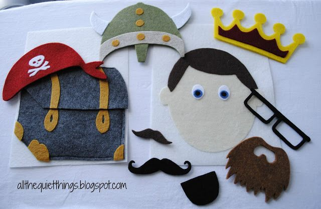 This link has some of the best ideas for a boys quiet book that I have seen anywhere. I love the boy costumes and the dump trunk. Will definitely use these ideas if I get a chance to make a boys quiet book.