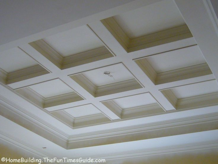 70 best images about basement ideas on pinterest for Coffered ceiling styles